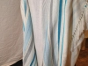 Bold stripes, full-size, Turquoise, Grey, Blues, tencel and bamboo
