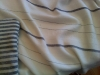Traditional stripes, full-size, Black on white merino wool/silk