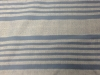 Plainweave, full-size, white on blue, merino wool/silk