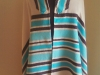 Bold stripes full-size turquoise and black cotton and bamboo