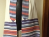 Bold stripes blue/ red/ purple, tencel