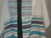 Bold stripes turquoise, purple, black, tencel