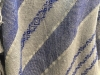 Plainweave and twill,  Blue on Grey, full-size,  Merino Wool close up